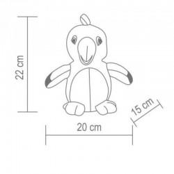 Papagal de plus, functie de redare a vocii si miscare, 22x20x15 cm
