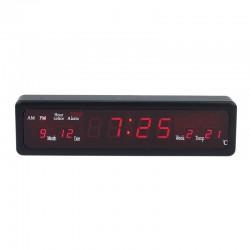 Ceas cu display LED, 8 alarme, calendar si termometru, Resigilat