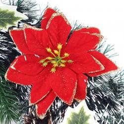 Coronita decorativa Craciun, diametru 38 cm, craciunite, vasc, aspect nins
