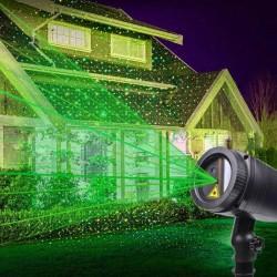 Proiector laser cu lumini verzi, efect stelute miscatoare, 240V, exterior IP44