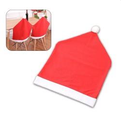 Husa spatar scaun, model caciula Mos Craciun, marime universala, rosu