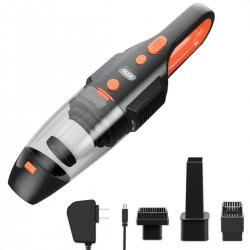 Aspirator auto cu Vacuum 120W, 3 accesorii, lanterna, reincarcabil, 65dB, filtru Hepa
