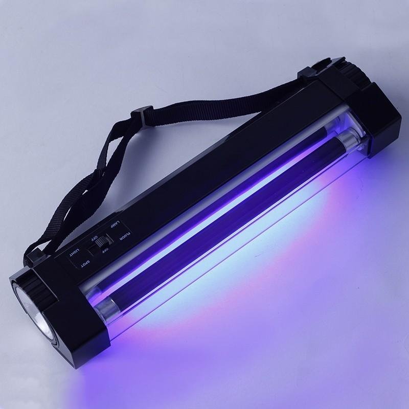Detector de valuta, lampa UV portabila 6W, functie lanterna