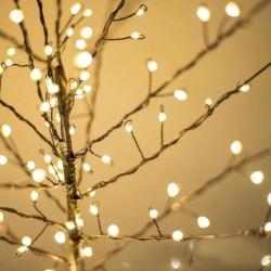 Decoratiune pom luminos, 112 microLED-uri, ramuri flexibile, alb cald, inaltime 40 cm