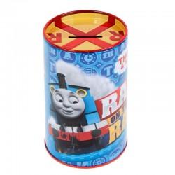 Pusculita Thomas Train din metal, rotunda, lacat, 13 cm