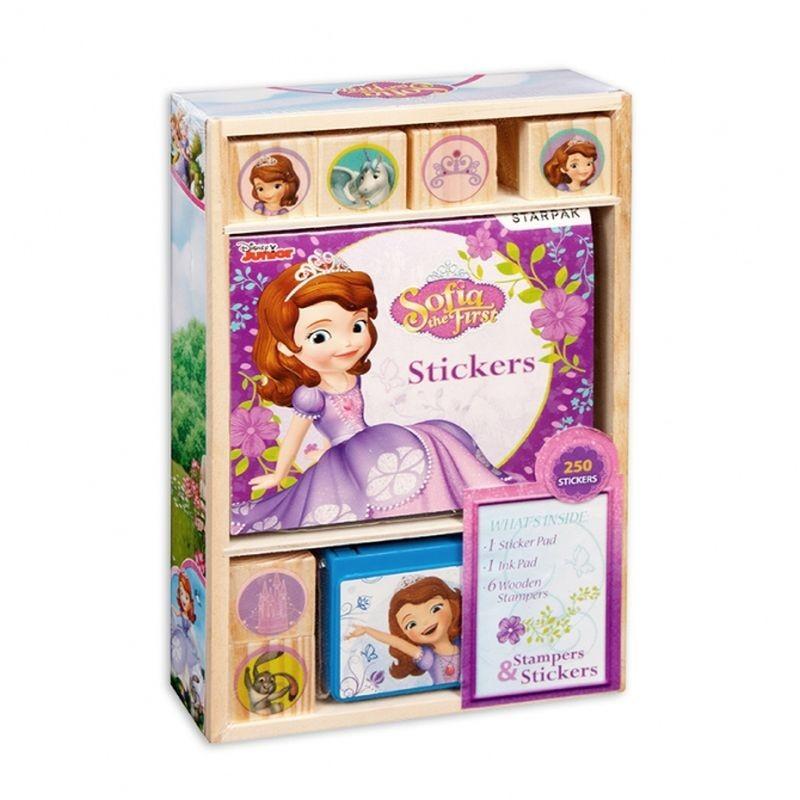 Set creativ Printesa Sofia, cu 6 stampile si 250 stickere