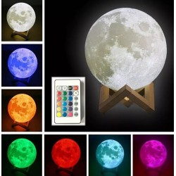 Lampa Luna 3D 20 cm, LED 16...