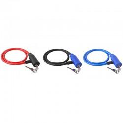 Cablu antifurt bicicleta, inchidere cheie, lungime 66 cm, invelis silicon