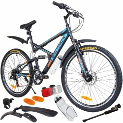 Bicicleta MalTrack Target, cadru otel, 26 inch, 18 viteze, amortizoare mountain bike