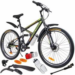 Bicicleta MalTrack Target, 18 viteze, roti 26 inch, amortizoare, frane disc