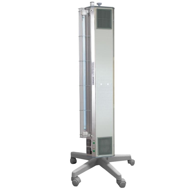 Lampa bactericida UVC 2 in 1, sterilizare aer 60/30W, 132 mc/h, radiatie directa, suport mobil