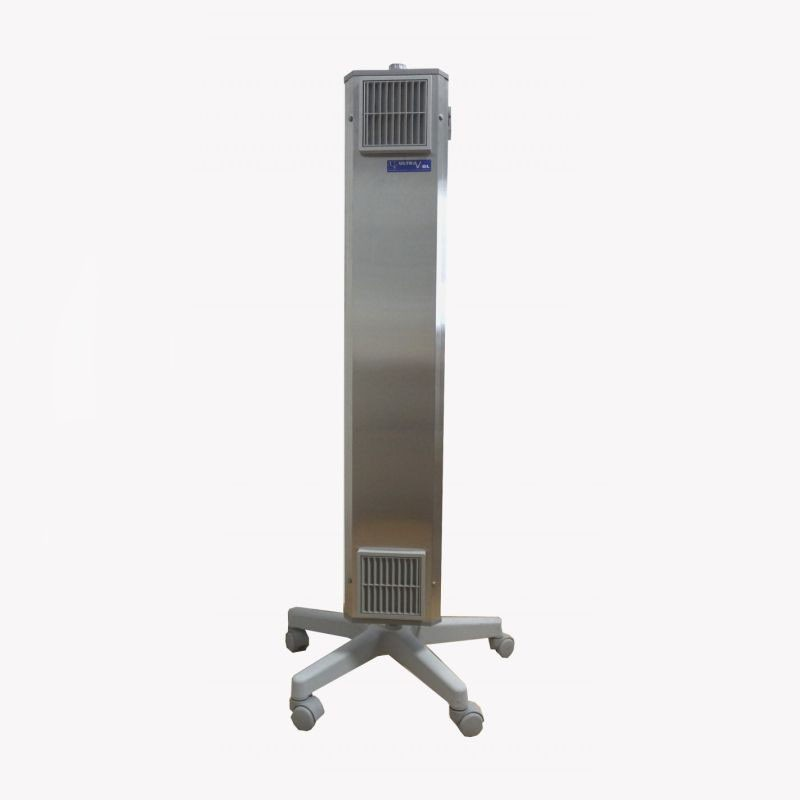 Lampa bactericida UVC sterilizare aer 2x55W, stativ mobil, flux 199 mc/h