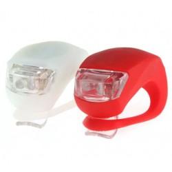 Lumini de siguranta bicicleta, LED 3 moduri iluminare, silicon, set 2 bucati