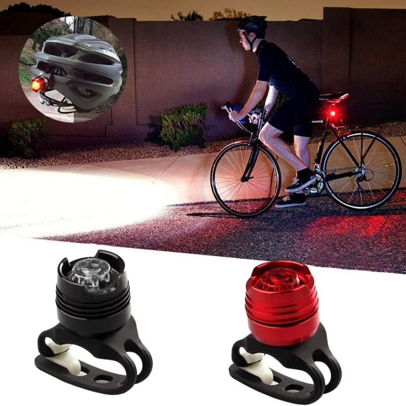 Lumini LED siguranta bicicleta, 3 moduri iluminare, aluminiu, fata-spate