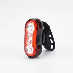 Stop bicicleta 5 LED-uri SMD, 120 lumeni, incarcare USB, 5 moduri iluminare