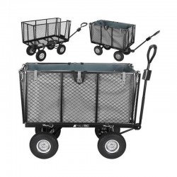Carucior rabatabil pentru gradina, sarcina 600 kg, maner reglabil, husa 250 l