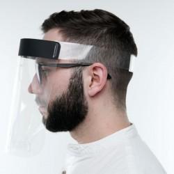 Masca plastic viziera protectie fata, material transparent, prindere reglabila, 25x25 cm