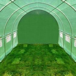 Sera solar 2x3m pentru gradina, cadru metalic, folie impermeabila, 6 mp, 6 ferestre