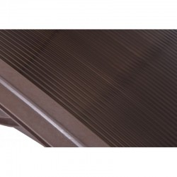 Copertina fixa policarbonata, 200x100cm, accesorii montare, culoare maro