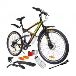 Bicicleta MalTrack MTB Mountain Bike, roti 26 Inch, 18 viteze, amortizoare, bidon apa