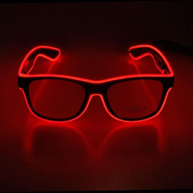 Ochelari party luminosi, fir El Wire cu 3 moduri de iluminare