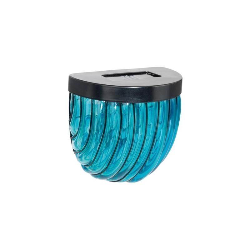 Aplica solara LED din sticla albastra