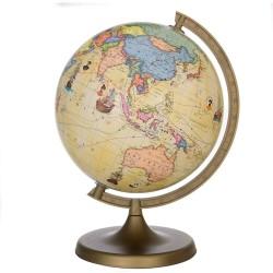 Glob geografic Travel, diametru 22 cm, harta politica, rute calatorie celebre