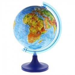 Glob pamantesc 25 cm, harta fizica, arc meridian gradat, rotativ, suport birou