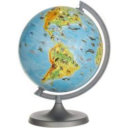 Glob pamantesc ZooGlobe, harta fizica-zoologica, diametru 22 cm, carte 275 animale