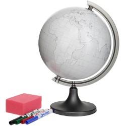 Glob pamantesc conturat, 4 markere, burete, personalizabil, diametru 25cm