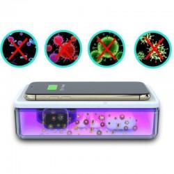 Sterilizator UVC bactericid 15W, de uz universal pentru obiecte mici, tip cutie cu incarcator wireless smartphone, 18.2x10x4 cm