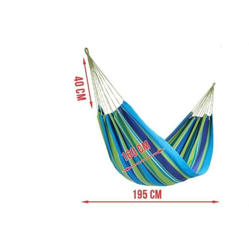 Hamac Dublu Material Bumbac Dens Dimensiuni 160x195 Cm
