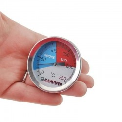 Termometru gratar Smoke&BBQ, otel, 0-250 grade Celsius, sonda, diametru 5cm