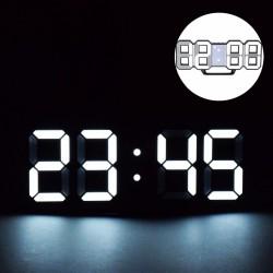 Ceas digital LED, termometru, data, functie alarma, fixare perete, 12/24h