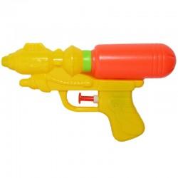 Pistol cu apa, actionare manuala, plastic, 17x10x3.5 cm, galben