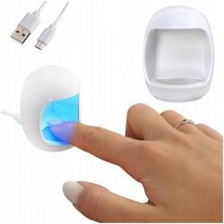 Mini lampa UV manichiura, 3W, pentru deget, alimentare USB, timer 60s