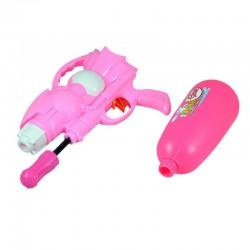 Pistol cu apa, actionare manuala, design ergonomic, plastic, roz