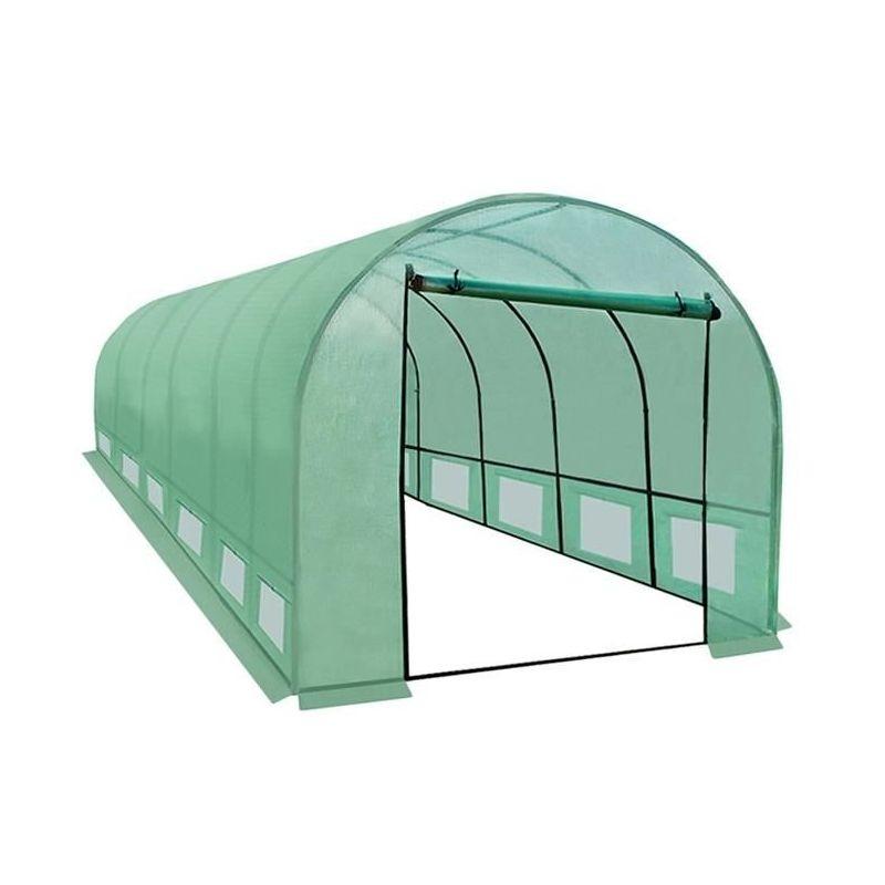 Sera solar pentru gradina 6x3x2m 18 mp, ferestre, usa fermoar, cadru otel