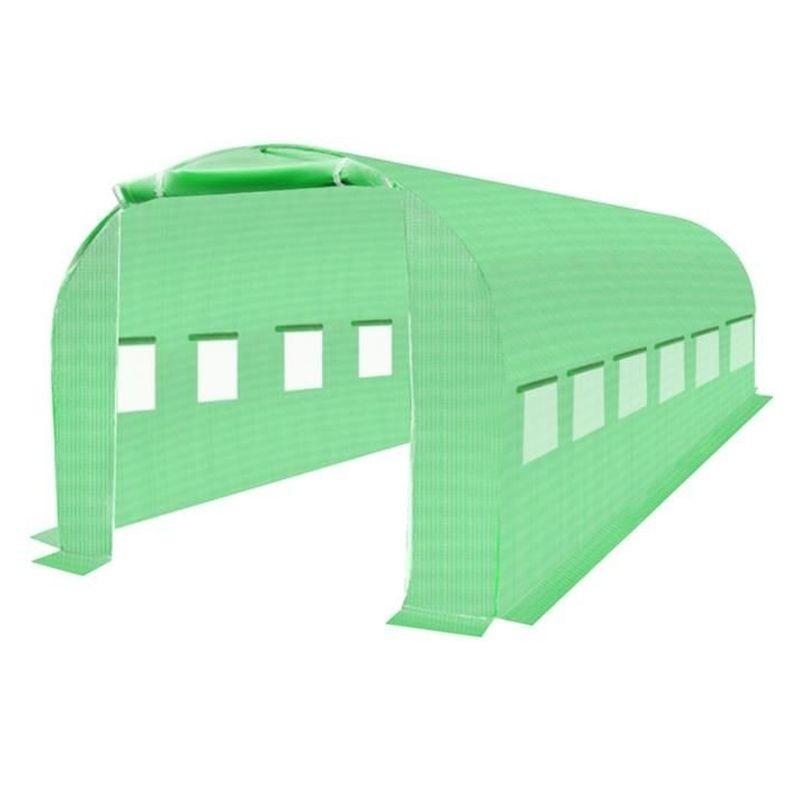Folie protectie pentru solar de gradina, 12 ferestre laterale, 2 usi, 6x3x2m, verde