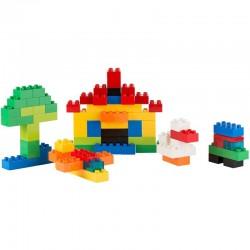 Cuburi tip Lego pentru constructii, 320 piese, rucsac inclus, colorate