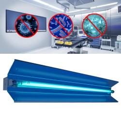 Lampa bactericida orientabila UVC 30W, cu reflector, rotire 140 grade, tub quartz, fixare perete