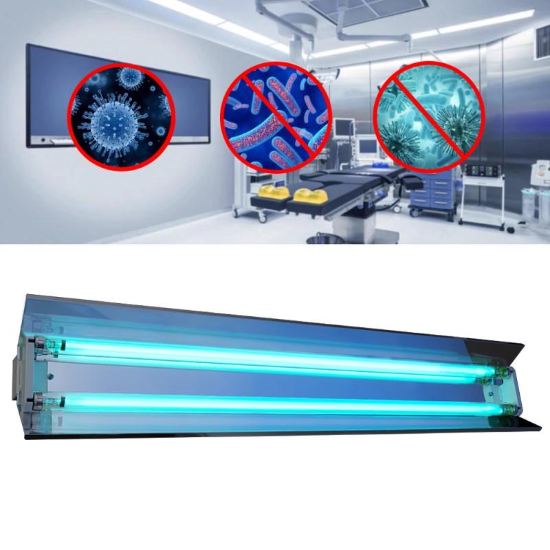 Lampa bactericida UVC orientabila 2x30W, reflector, rotire 140 grade, sterilizare