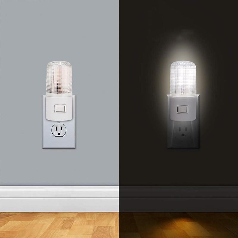 Lampa de veghe alimentare priza, LED, intrerupator, ABS