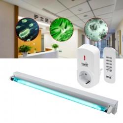 Lampa bactericida UVC 40 W cu ozon, sterilizare suprafata 40 mp, control telecomanda, fixare perete