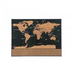 Harta lumii razuibila, 82x59 cm, text cartografie limba engleza, drapeluri