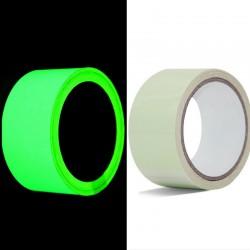 Banda antiderapanta autoadeziva fosforescenta verde, latime 5 cm, lungime 10 m, lumineaza intens