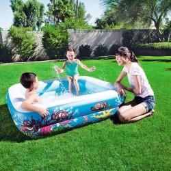 Piscina gonflabila pentru copii, baldachin detasabil, capacitate 265l, design vesel, 147x147x122cm