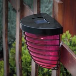 Aplica solara LED din sticla colorata