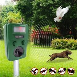 Aparat solar cu ultrasunete impotriva animalelor salbatice, 5 moduri, senzor IR, fixare in pamant