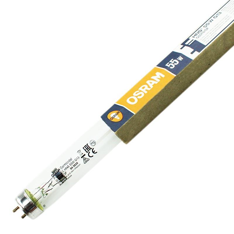 Tub bactericid UVC 55W pentru sterilizare, soclu G13, 2 pini, lungime 91 cm